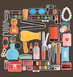 tools for makeup flat design vector image