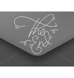 Valentines envelope the end vector image
