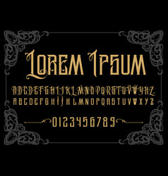 Vintage font vector