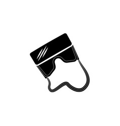 virtual reality glasses icon black on white vector image