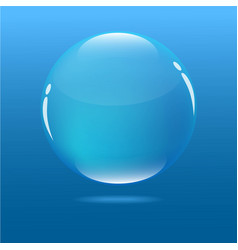 water blue bubble in ocean vector image