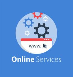 web design internet technology vector image