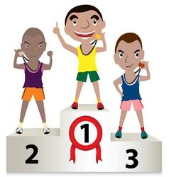 winner sport mens vector image