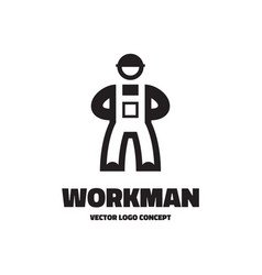 workman - logo template vector image