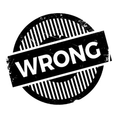 Wrong rubber stamp vector image
