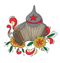 Accordion Bayan isolated on white background vector image