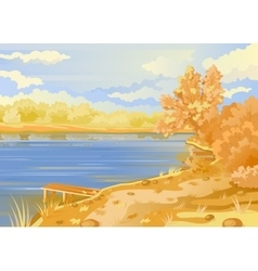 Autumn landscape in the open air vector image vector image
