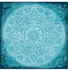 Blue Indian Ornament vector image vector image