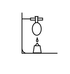 chemistry test tube fire reaction icon vector image