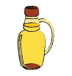 Maple syrup bottle traditional sketch vector