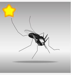 mosquito black icon button logo symbol vector image vector image