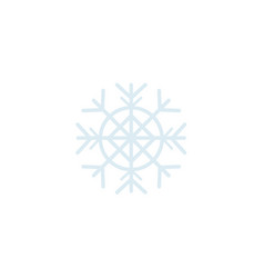 flat snowflake icon isolated vector image