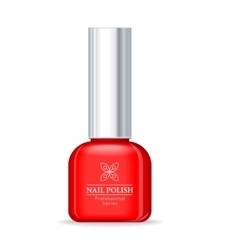 Nail Polish Professional Series Red Bottle vector image