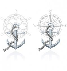 nautical emblems vector image vector image