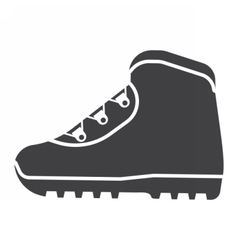 Tourist Hiking Boots Icon vector image