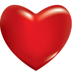 3d red heart vector image vector image