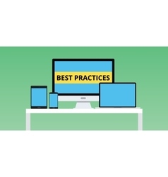 best practice practices with notebook vector image vector image