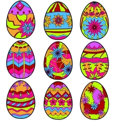 Colorful eggs vector image vector image