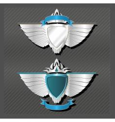 emblems series wings vector image vector image