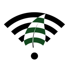green wifi vector image