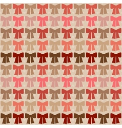Seamless pattern with bows in retro style vector image