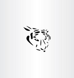 tiger icon design vector image vector image