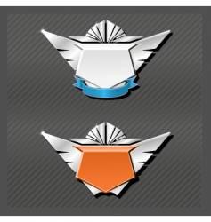 emblems series wings vector image