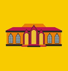 flat design of retro city house old building vector image vector image