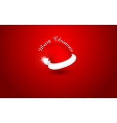 Santa Cap for Merry Christmas and Happy New Year vector image vector image