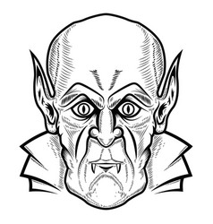 vampire head isolated on white background vector image