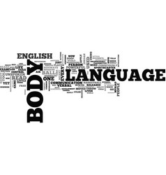 what is body language text word cloud concept vector image vector image