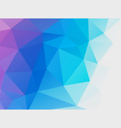 abstract blue purple low poly background vector image