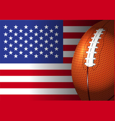 American football rugby on america flag design vector