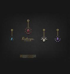 Arabesque pattern with precious ornaments vector