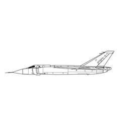 Avro canada cf-105 arrow vector