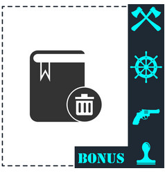 book icon flat vector image