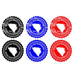bosnia and herzegovina rubber stamp vector image