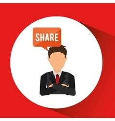 Businesspeople avatar design vector