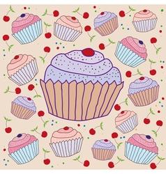 cake background vector image