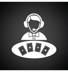 Casino dealer icon vector image