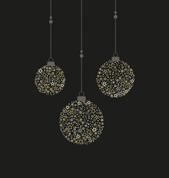 christmas balls decoration vector image