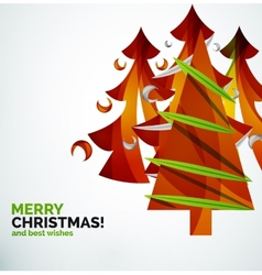 Christmas tree geometric design vector image