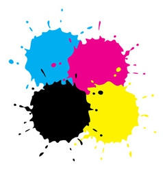 Cmyk Grunge Spots vector