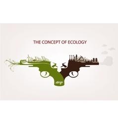 Conceptual of pollution vector