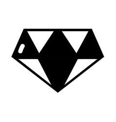 contour cute diamond elegant accessory design vector image
