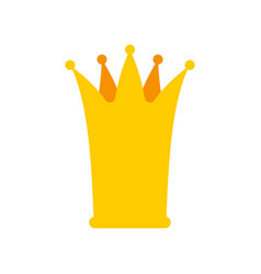 crown princess isolated little golden cap vector image