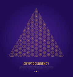 cryptocurrency concept in triangle vector image