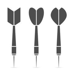darts icon set vector image