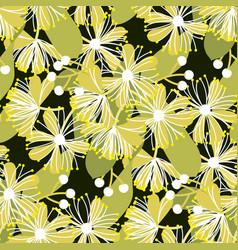 decorative linden flower seamless pattern vector image