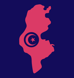 Detailed of tunisia map vector
